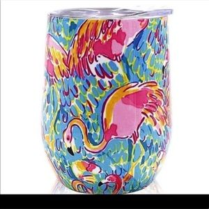 Lilly Pulitzer flamingo print wine tumbler 🆕